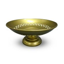 Brass Plated Round Iron Bowl