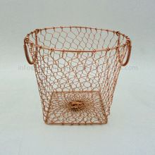 Copper Plated Strong Round Iron Wire Basket