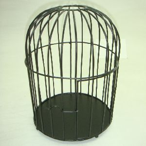 Matt Black Iron Metal Bird Cage