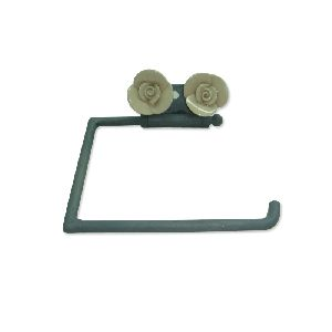 Metal Iron Toilet Paper Holder Grey Color Coated