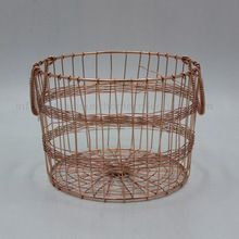 Metal Wire Basket Iron Round Basket