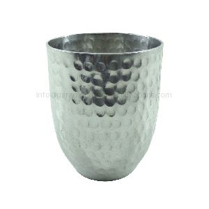 Polished Aluminium Metal Powder Pot