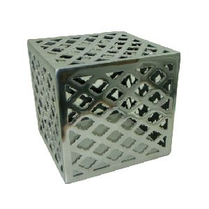 Square Aluminium Metal Stool