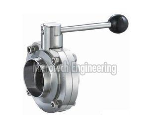 Sanitary Weldable  Butterfly Valve