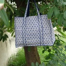 Bindiay Indian cotton quilted tote bag