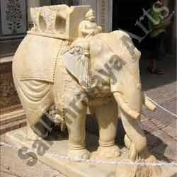 Elephant With Mahout Statue