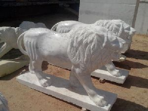Marble Standing Lion