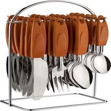 Portable Stainless Steel Cutlery Set with Stand