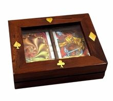 Wooden Glass Top Gift Box Set