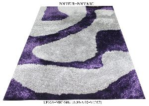 Machine Woven Polyester Shaggy Carpets and Rugs