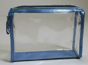 Blue PVC Zipper Bag