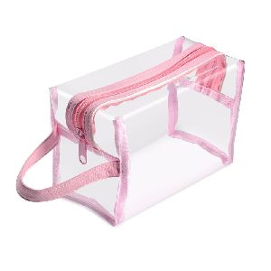 Pink PVC Zipper Bag