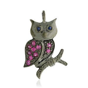 Silver Owl Charm Pendant