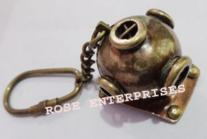 Antique Diving Helmet Key Chain