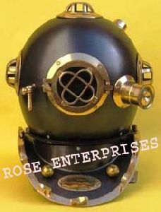 Black Antique Diving Helmet