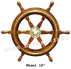 decorative wooden Ship Wheel
