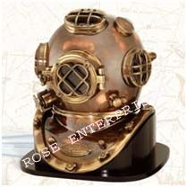 Diving Divers Helmet with Wooden Base Mark V