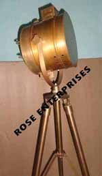 Nautical Antique Finish Spot Light With Tripod Stand