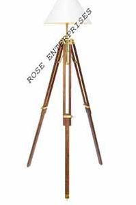 Nautical Tripod Decorative Wooden Lamp Stand