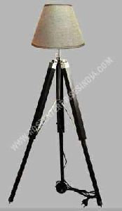 Nautical Tripod Wooden Floor Lamp