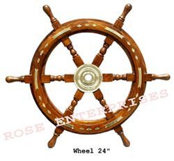 Wooden Ship Wheel