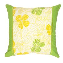 Flower design Green square cushion cover