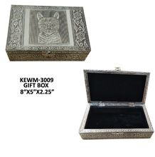 white metal silver Gift Box