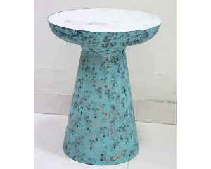 Metal and Marble Side Stool For Hotel and Home