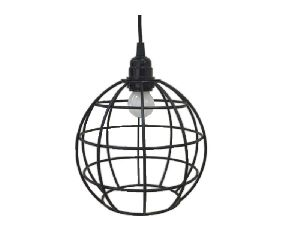 Round Iron Wire Cage Metal Pendant Light