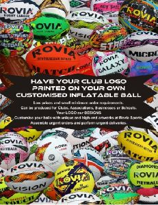 custom made club rugby balls