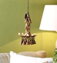 Metal brass Decorative tortoise oil lamp with antique finish