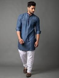 Mens Denim Kurta