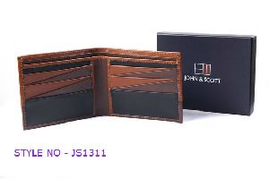JS1311 Mens Brown Leather Wallet