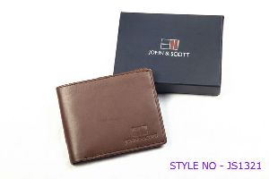 JS1321 Mens Brown Leather Wallet