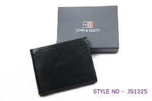 JS1325 Mens Black Leather Wallet