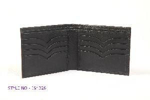 JS1326 Mens Black Leather Wallet
