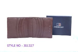 JS1327 Mens Brown Leather Wallet