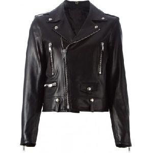 Ladies Black Leather Jacket 01
