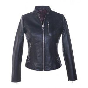 Ladies Black Leather Jacket 03
