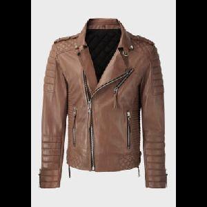Ladies Brown Leather Jacket 01