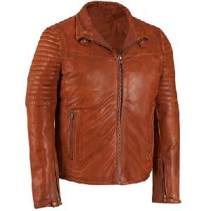 Mens Light Brown Leather Jacket 01
