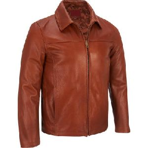 Mens Light Brown Leather Jacket 02