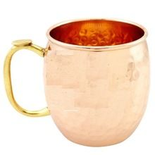 New Copper Unlined Hammered Mug