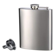 Pure Stainless Steel Shelf Flasks