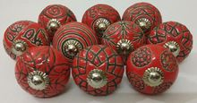 Red Color Ceramic Knobs