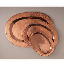 Copper Oval Hammered serving Tray