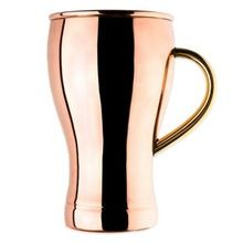 Copper Pint Glasses with Handle