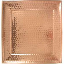 Square Copper Hammered Serving Tray