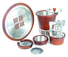 Wood Stainless Steel Bar Set