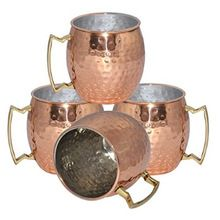 Solid copper Moscow Mule Copper Mug Hammered